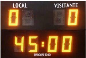 resultado de un partido que termino 0-0 en el primer tiempo